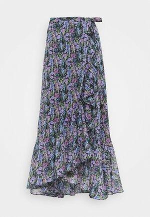 YASESMERALDA MIDI SKIRT  - A-snit nederdel/ A-formede nederdele - black/esmeralda