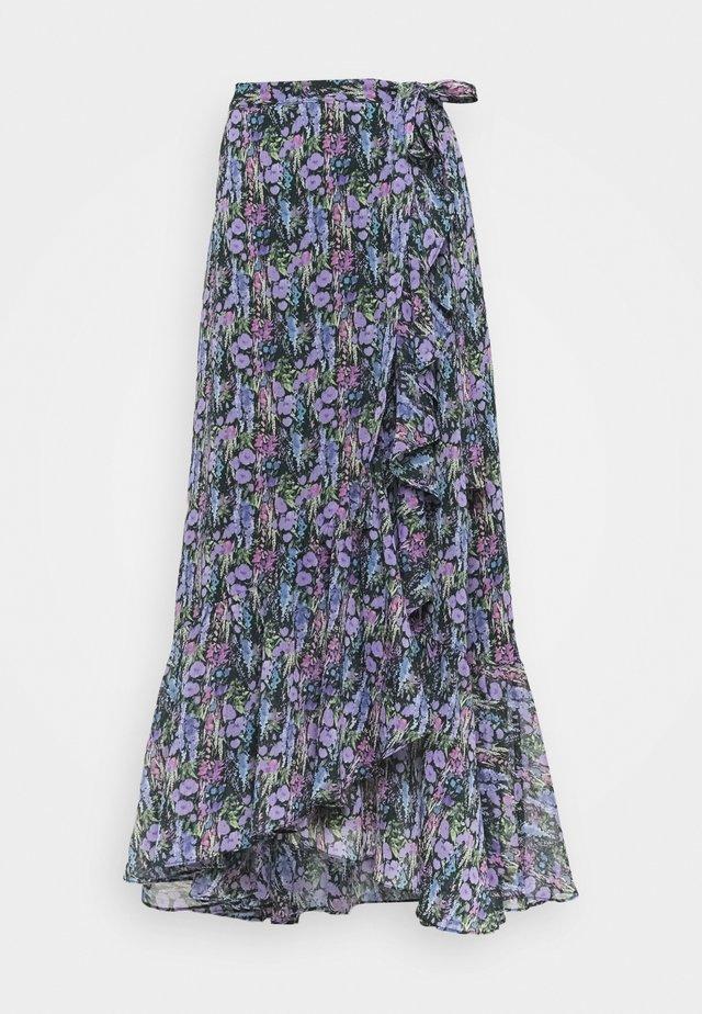 YASESMERALDA MIDI SKIRT  - Áčková sukně - black/esmeralda