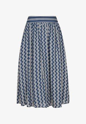 A-line skirt - faded blue zic zac stripes