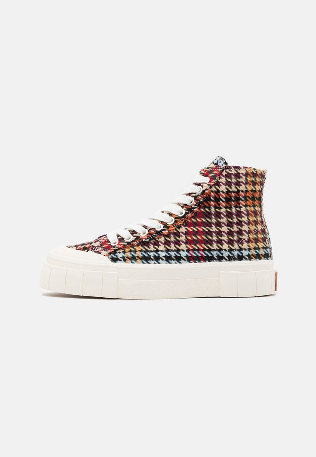 PALM CHECK - High-top trainers - brown/blue