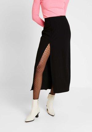 AMANI SKIRT - Áčková sukně - black