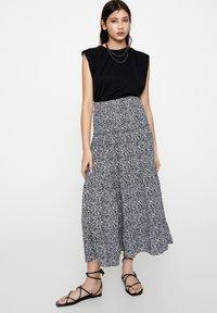PULL&BEAR - Maxi skirt - black - 1
