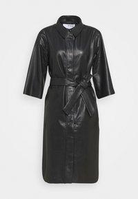 Selected Femme - SLFSOLA DRESS - Shirt dress - black - 0