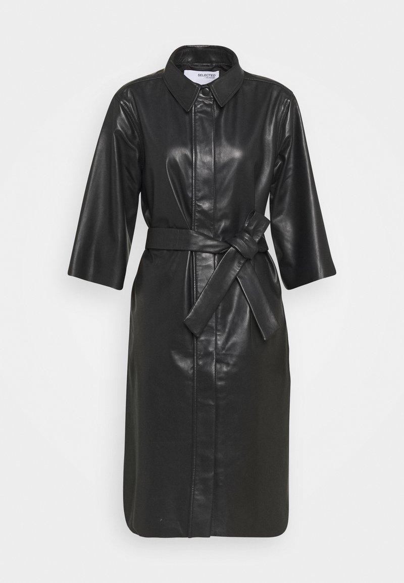 Selected Femme - SLFSOLA DRESS - Shirt dress - black