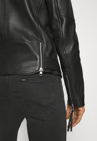 Tigha - BONE - Leather jacket - black - 3