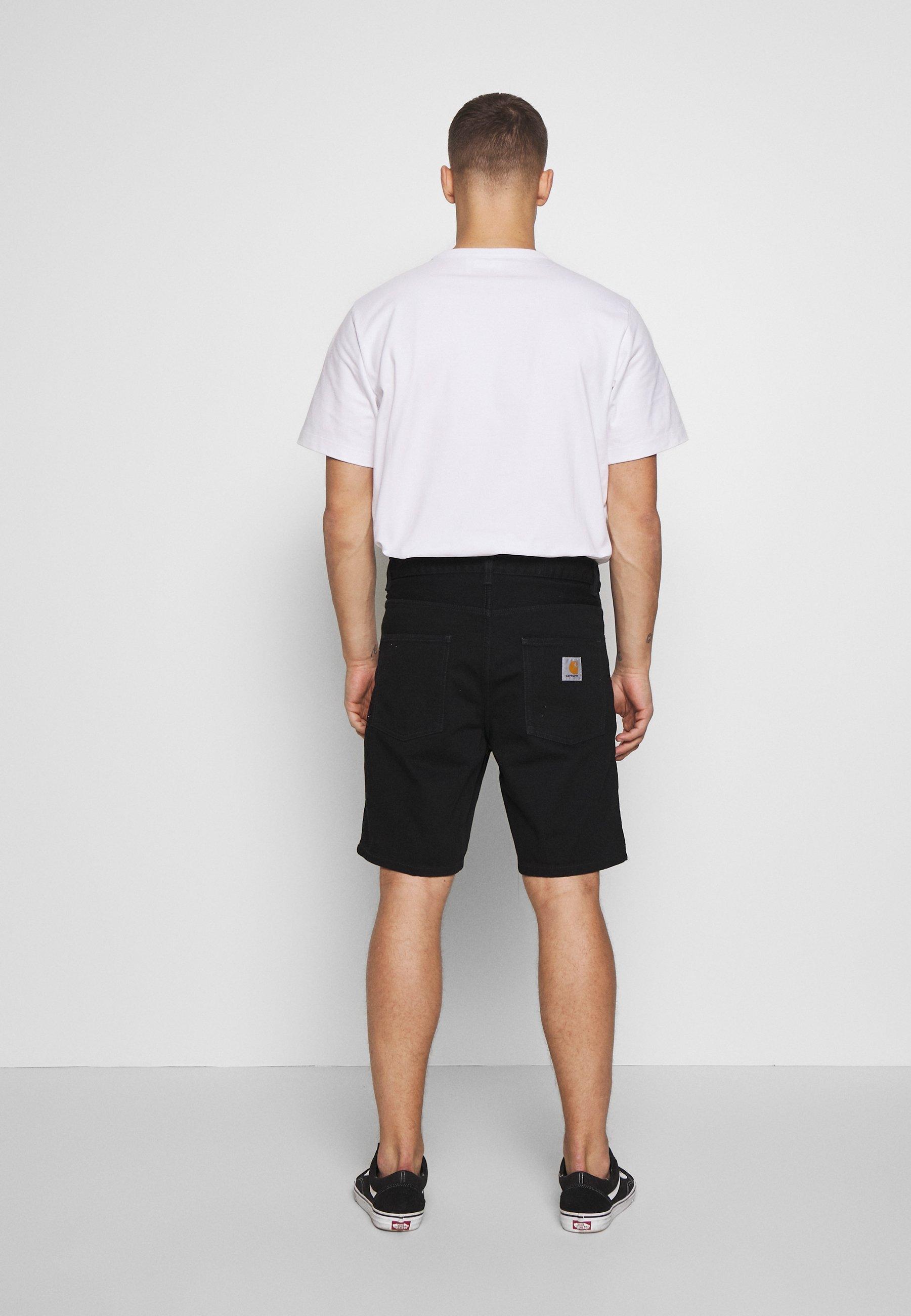 Carhartt WIP NEWEL MAITLAND - Short en jean - black rinsed