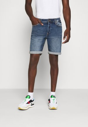 JJIRICK JJORIGINAL  - Shorts vaqueros - blue denim