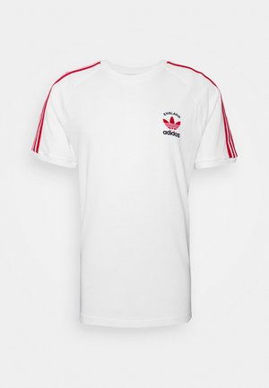 STRIPES SPORTS INSPIRED SHORT SLEEVE TEE UNISEX - Triko s potiskem - white/scarle
