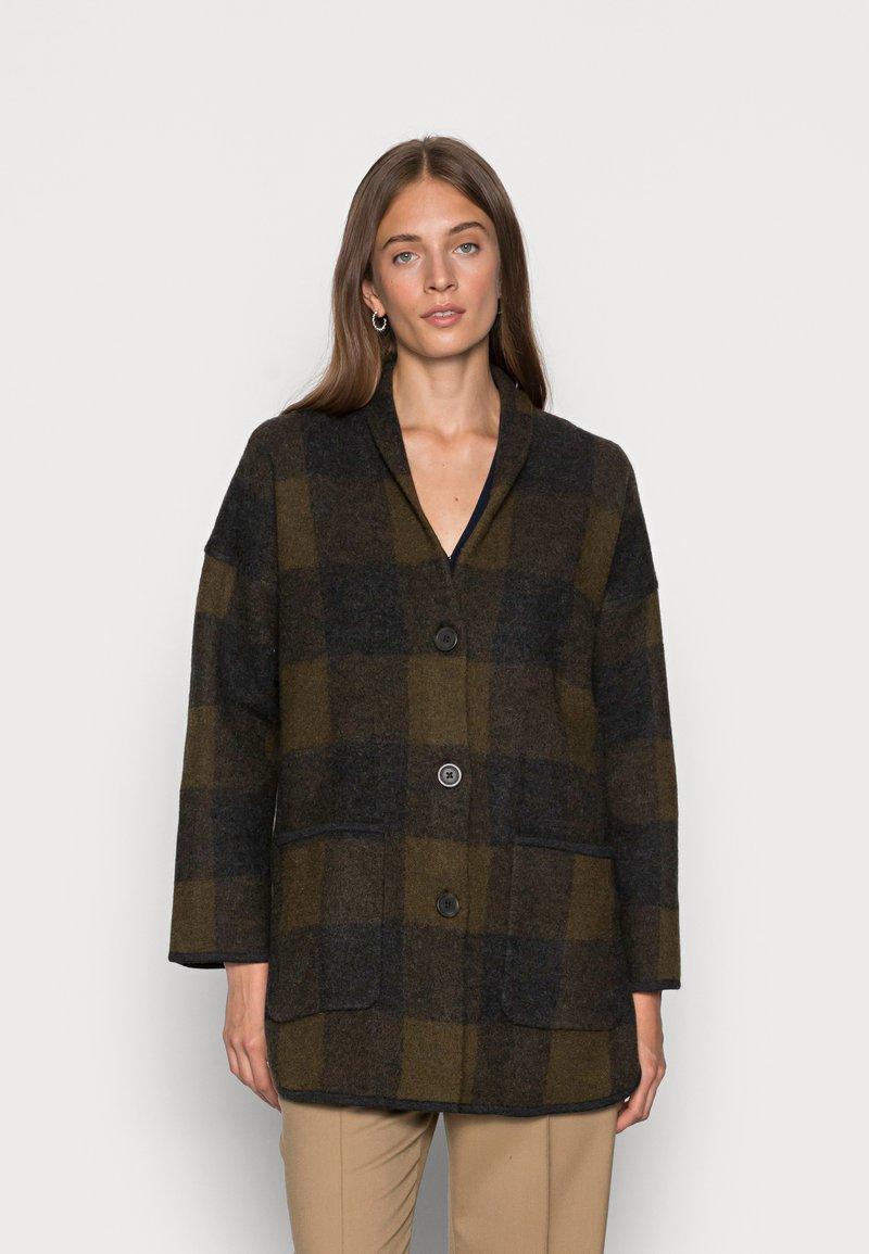 Madewell - PLAID COAT DIRECT EXCLUSIVE - Cardigan - juniper