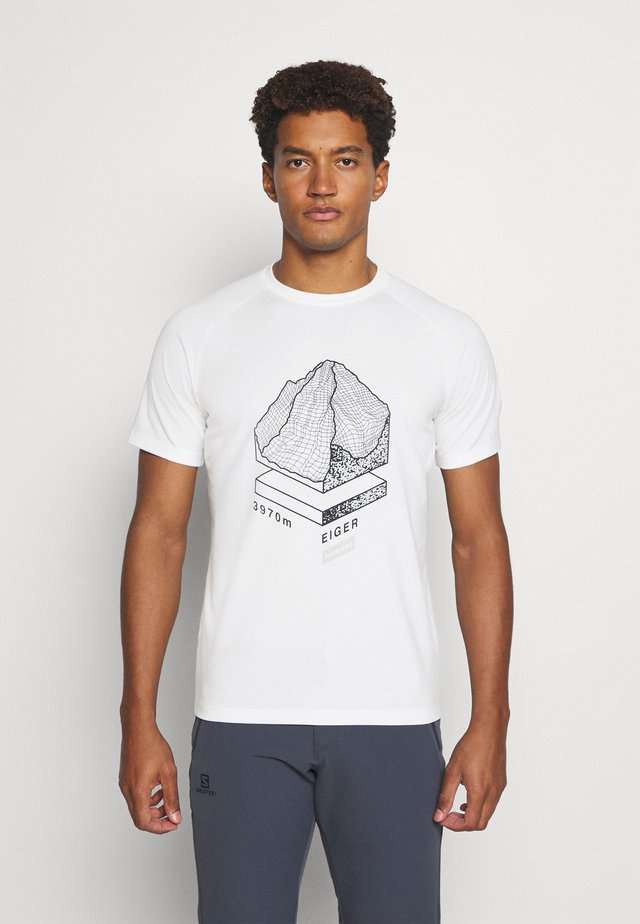 MOUNTAIN - Print T-shirt - bright white
