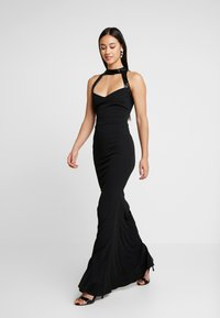 WAL G. - MAXI DRESS HELCTOR NECK OPEN BACK - Robe de cocktail - black - 2