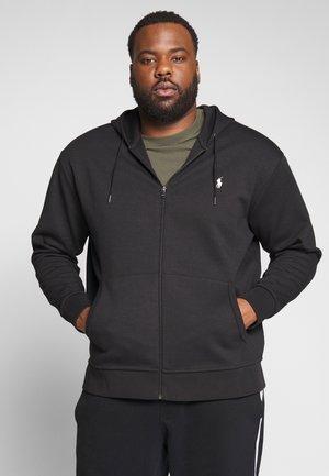 DOUBLE TECH HOOD - Zip-up hoodie - black