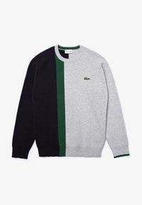 Lacoste - Sweatshirt - gris chine / bleu marine / vert - 4