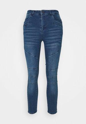 VMSOPHIA BIKER - Jeans Skinny Fit - dark blue denim