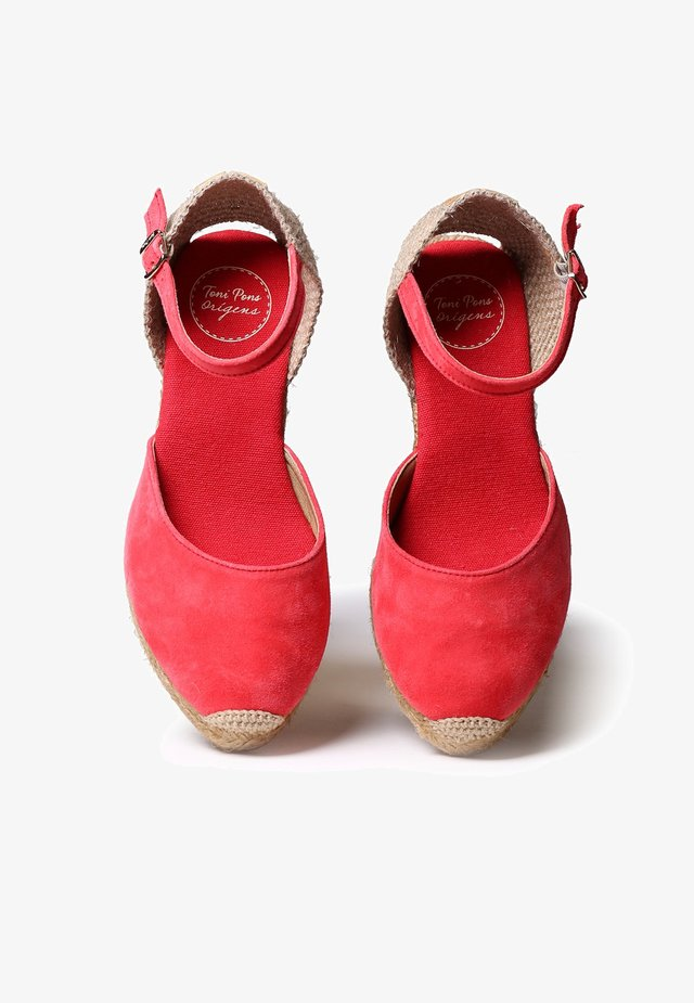 LLORET - Platform heels - raspberry
