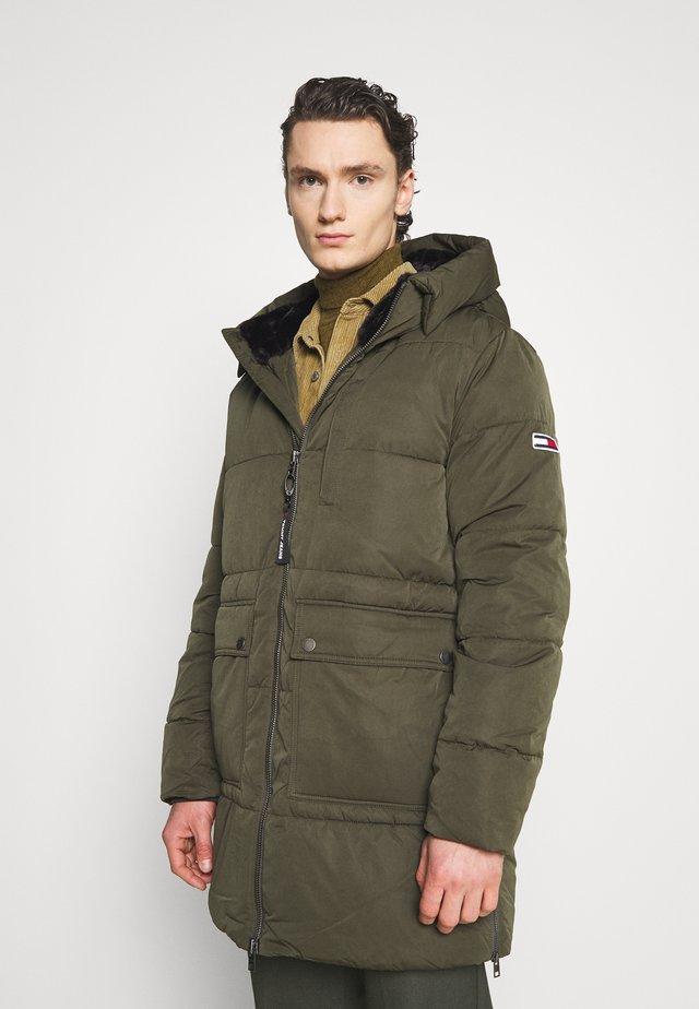 CASUAL PUFFER - Winter coat - dark olive