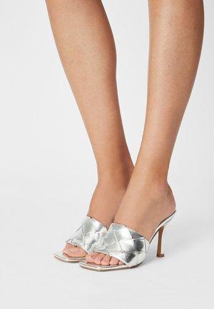 TIARA - Heeled mules - silver