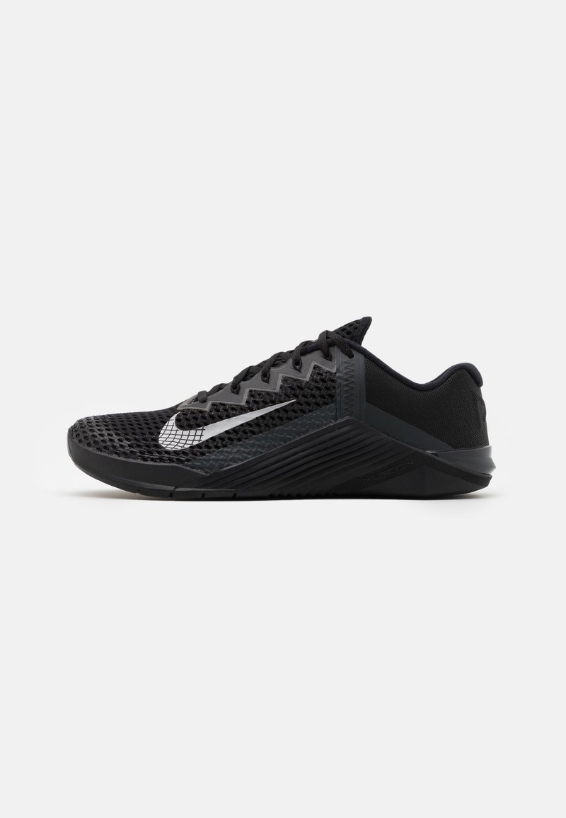 Nike Performance - METCON 6 UNISEX - Sports shoes - black/metallic silver/anthracite