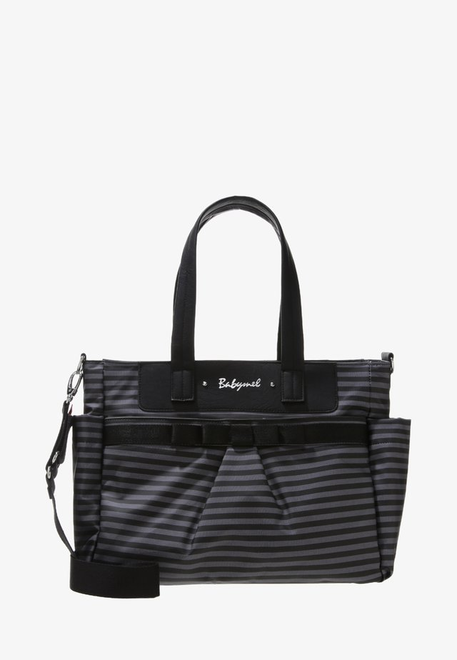 CARA - Baby changing bag - stripe grey
