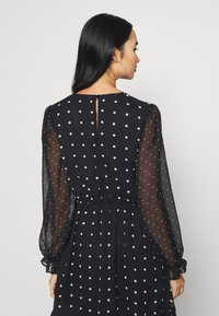 Miss Selfridge - MIXED SPOT DRESS - Day dress - black - 4