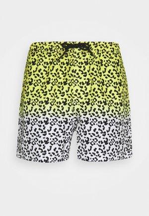ADLER - Shorts da mare - yellow/white/black