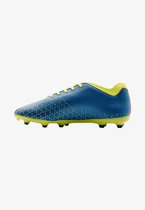 Voetbalschoenen met kunststof noppen - teal, yellow