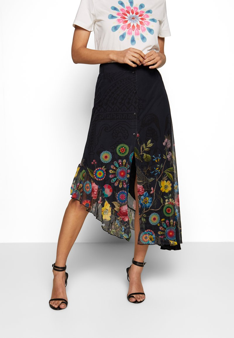 Desigual - COKE - Áčková sukně - marino