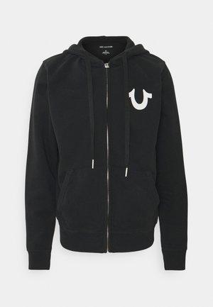 CLASSIC  - Zip-up hoodie - black