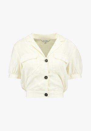 CROPEPD SAFARI - Button-down blouse - cream