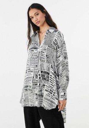 MIT PRINT - Košile - dark grey
