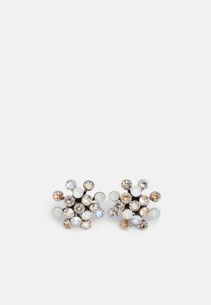 MAGIC FIREBALL - Earrings - white/grey