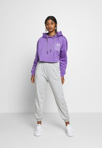 Missguided Petite - 2 PACK BASIC JOGGERS - Tracksuit bottoms - grey marl/black - 0