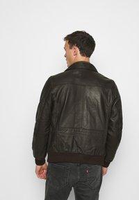 Schott - Leather jacket - dark brown - 2
