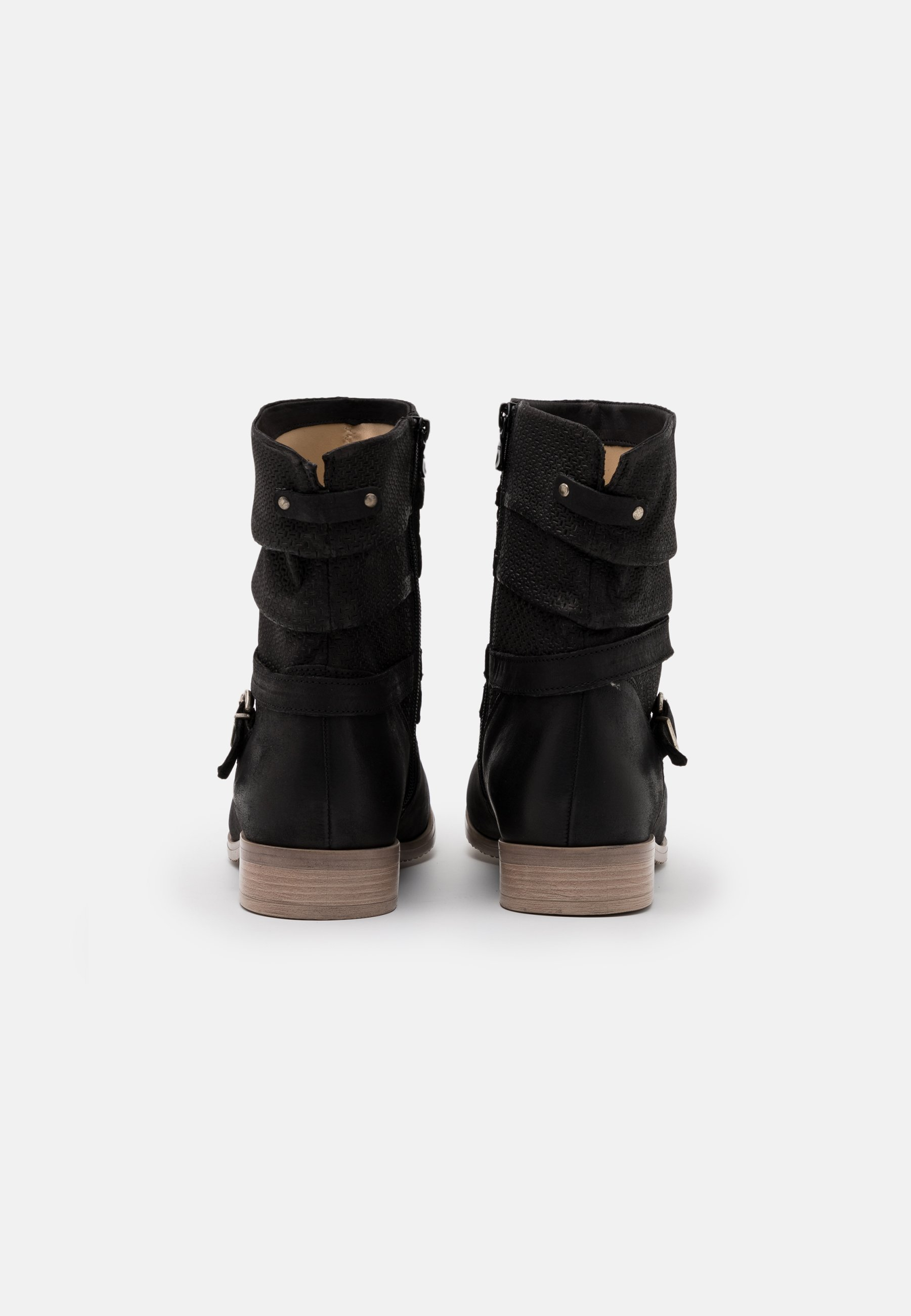 Latest Discount New And Fashion Women's Shoes Anna Field LEATHER Cowboy/biker ankle boot black Ev7bWI3ca Nq8CWMYud