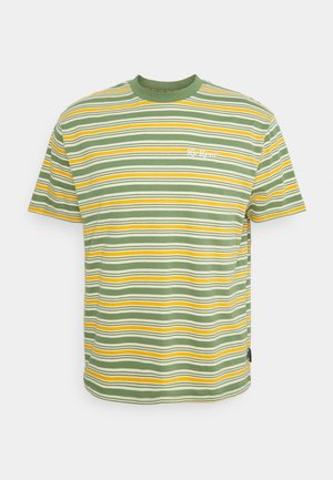 STRIPE TEE - T-shirt con stampa - green/orange/cream