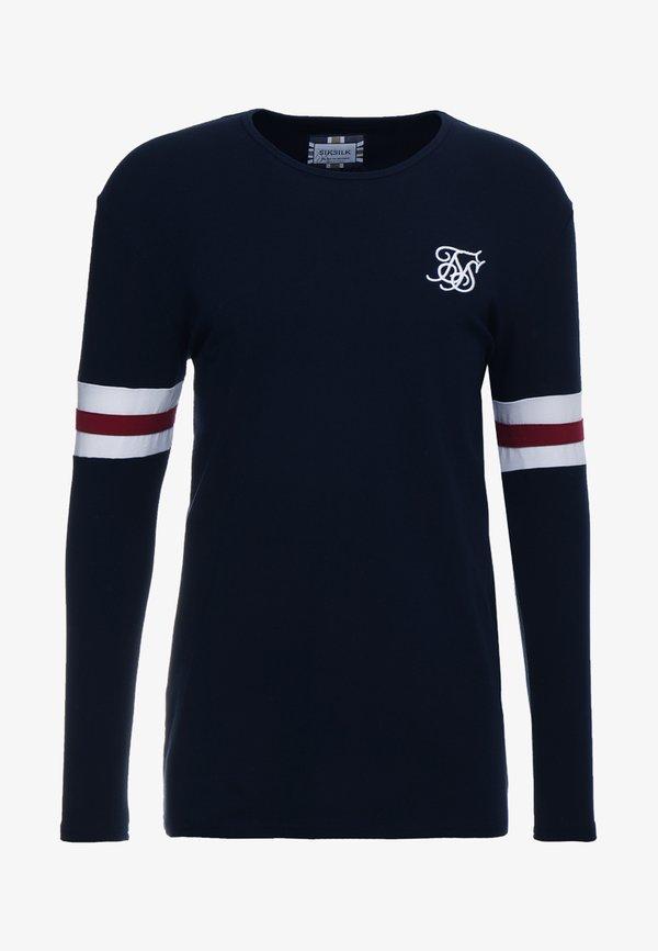 SIKSILK TOURNAMENT LONG SLEEVE - Bluzka z długim rękawem - navy/granatowy Odzież Męska FGXF