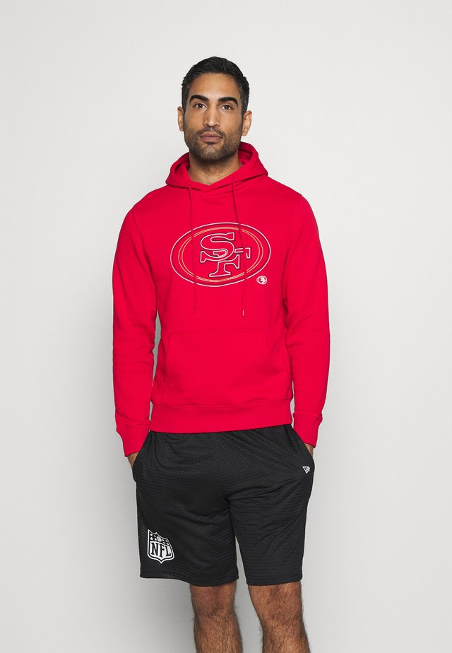 NFL SAN FRANCISCO 49ERS GLOW CORE GRAPHIC HOODIE - Klubové oblečení - game red