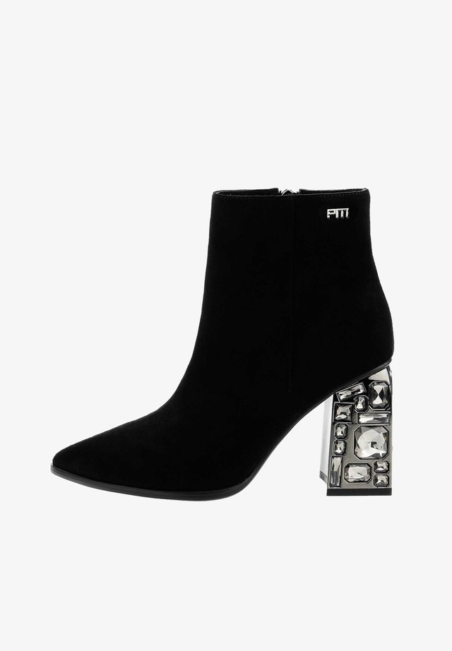 BALZO BALZO - High heeled ankle boots - czarny