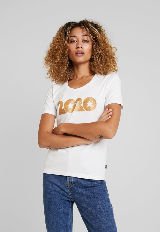 SCOOP NECK TEE - T-shirt con stampa - offwhite