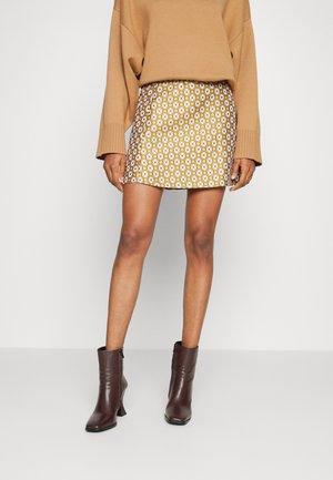 MEADOW SKIRT - Mini skirt - brown/multi-coloured