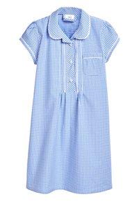 Next - RED BUTTON FRONT LACE GINGHAM DRESS (3-14YRS) - Košilové šaty - blue - 0