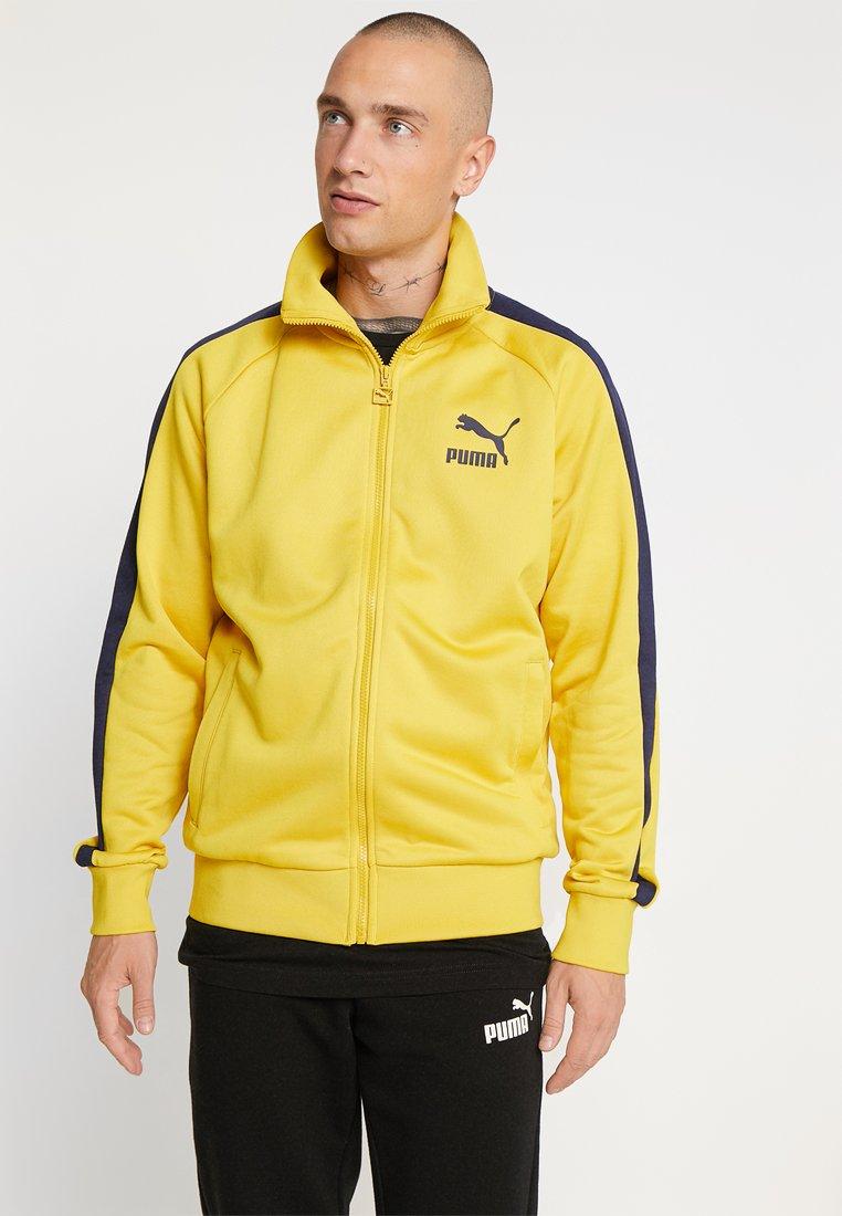 Puma - ICONIC TRACK - Zip-up hoodie - sulphur