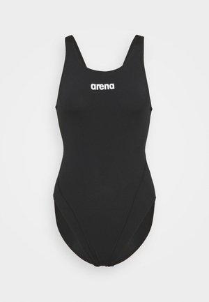 SOLID SWIM HIGH - Swimsuit - black/white