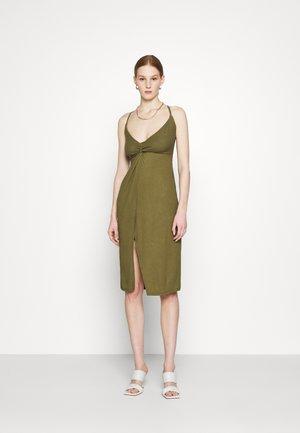Žerzejové šaty - olive night