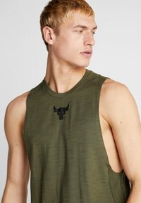 Under Armour - PROJECT ROCK CHARGED COTTON TANK - Top - guardian green/black - 4