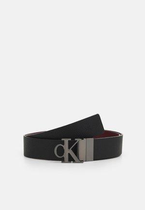 ROUNDED MONO - Belt - black/dark clove