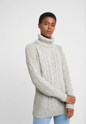 CABLE  - Pullover - light taupe