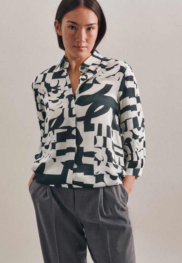 Seidensticker Koszula - schwarz/szary EZRG