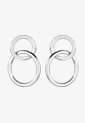 KREIS GEO BASIC MINIMAL LAYER  - Örhänge - silver-coloured