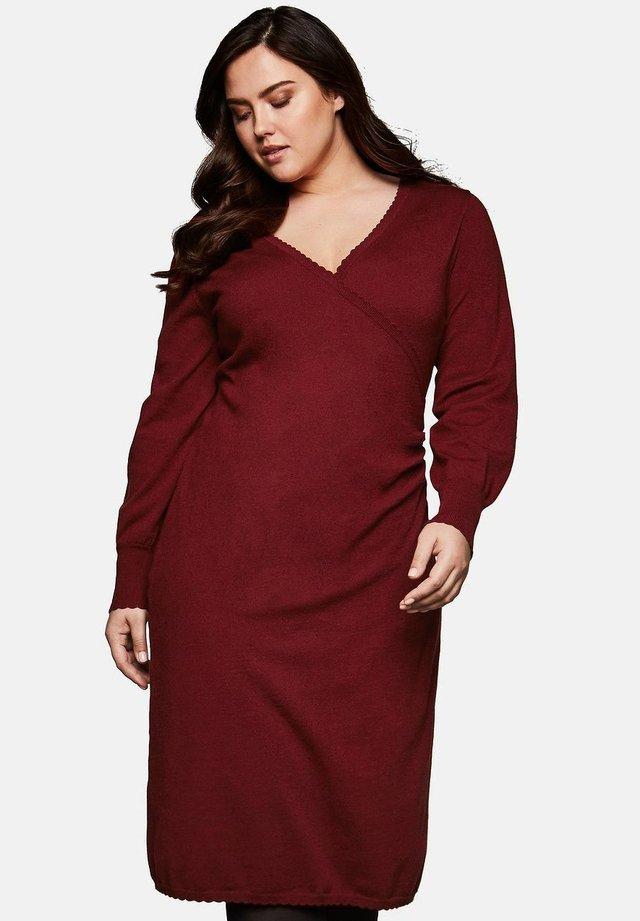 Gebreide jurk - ruby red